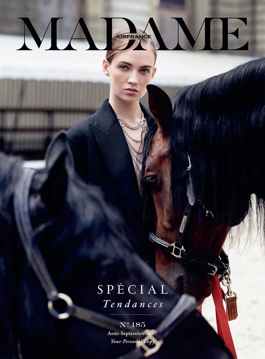 Adrienne Jüliger covers Air France Madame September 2017 by Gianluca Fontana