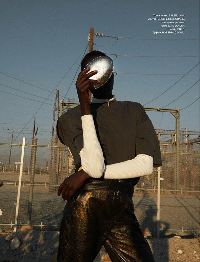 Ajak Deng covers Numéro Russia September 2017 by Egor Tsodov
