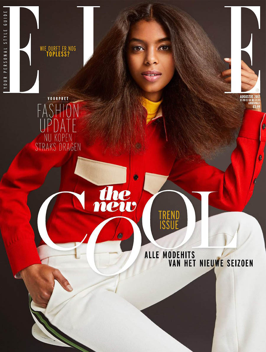 Alyssa Traore covers Elle Netherlands August 2017 by Justine Leenarts