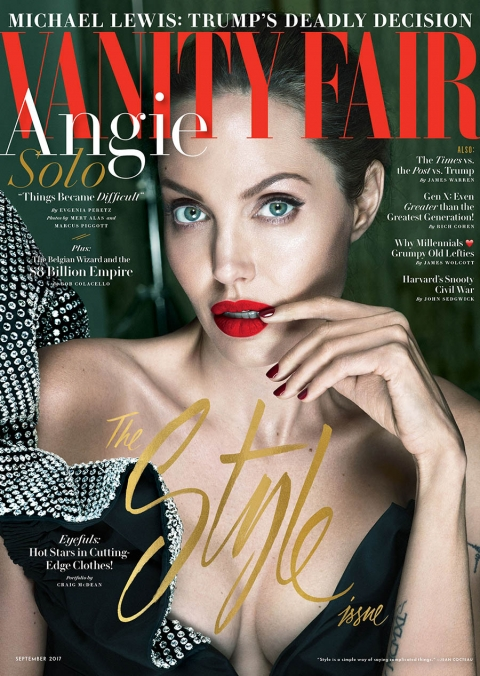 Angelina Jolie covers Vanity Fair September 2017 by Mert & Marcus