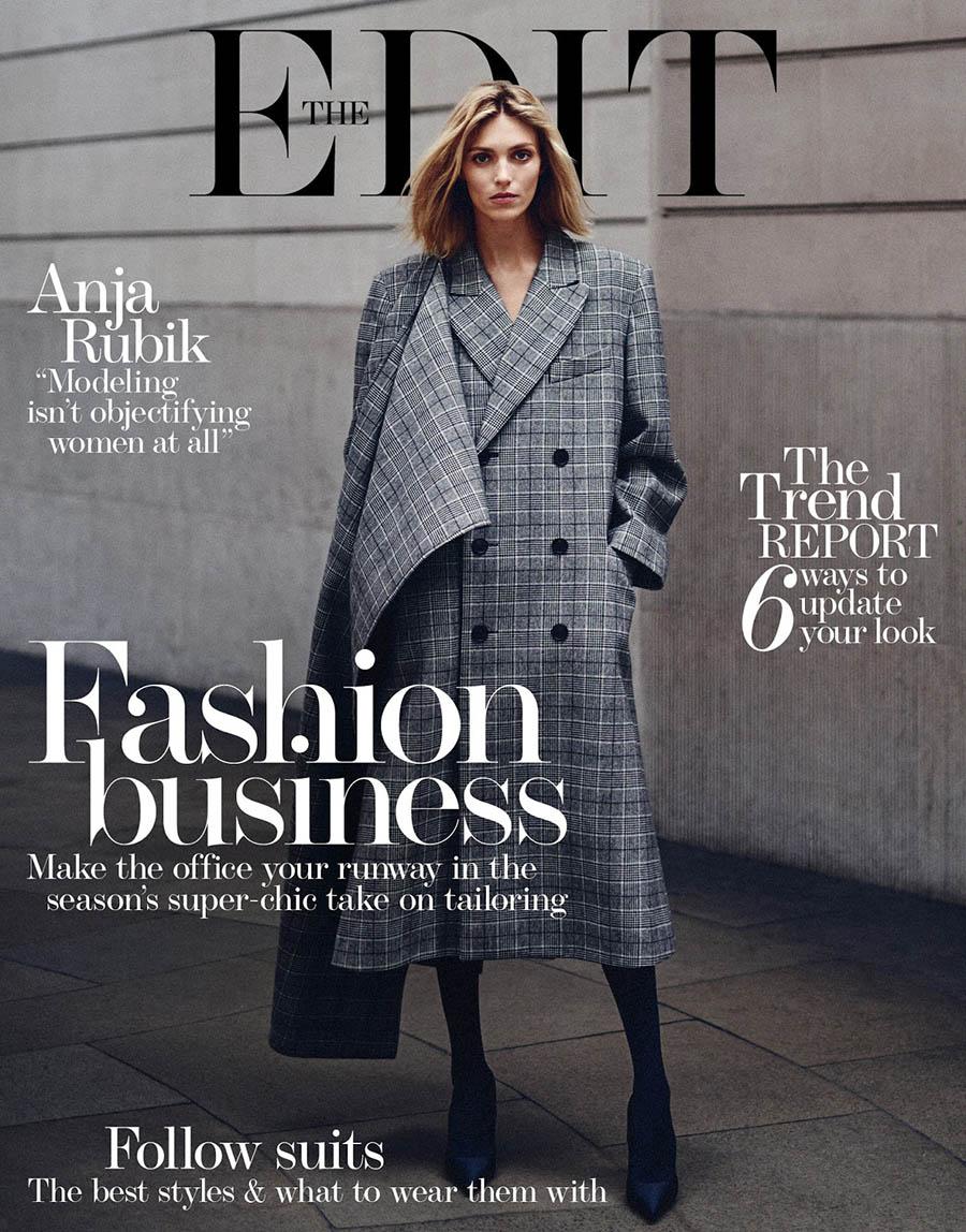 Anja Rubik covers The Edit Magazine by Boo George