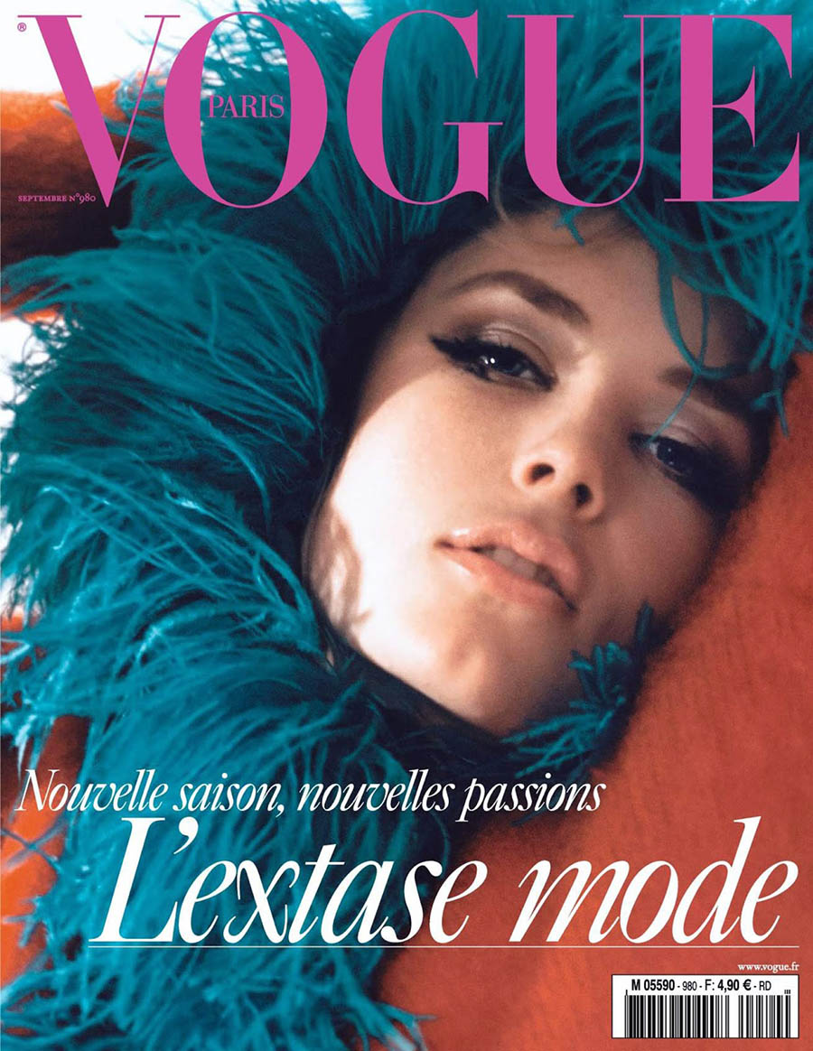Edie Campbell covers Vogue Paris September 2017 by David Sims