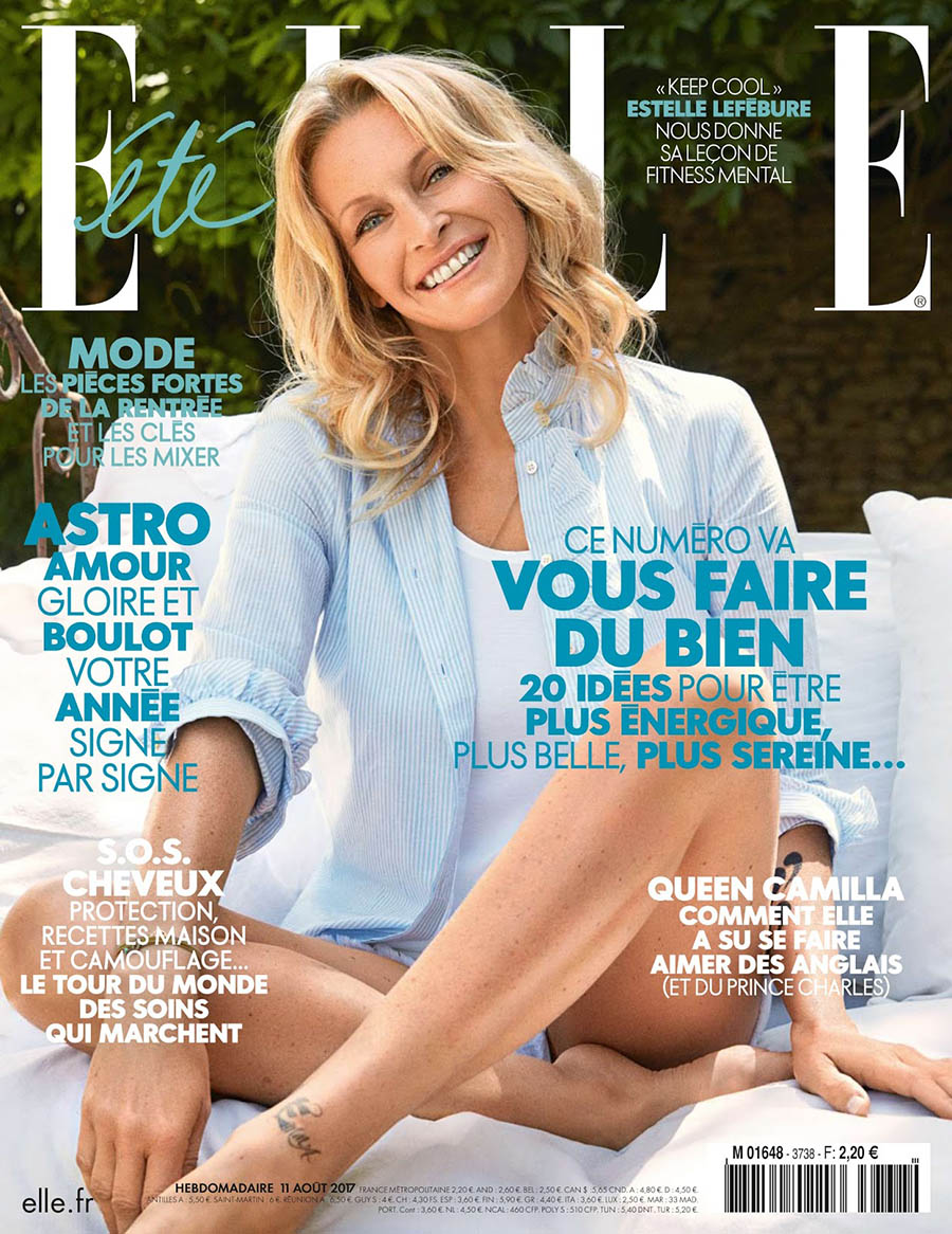 Estelle Lefébure covers Elle France August 2017 by Pelle Lannefors