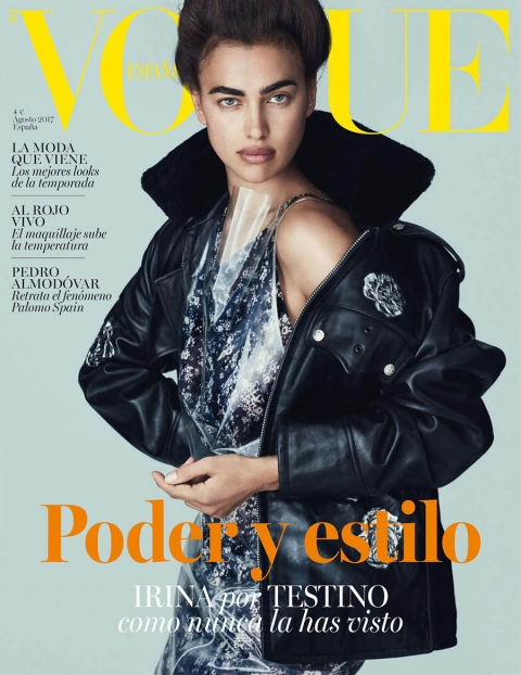 Irina Shayk covers Vogue Spain August 2017 by Mario Testino