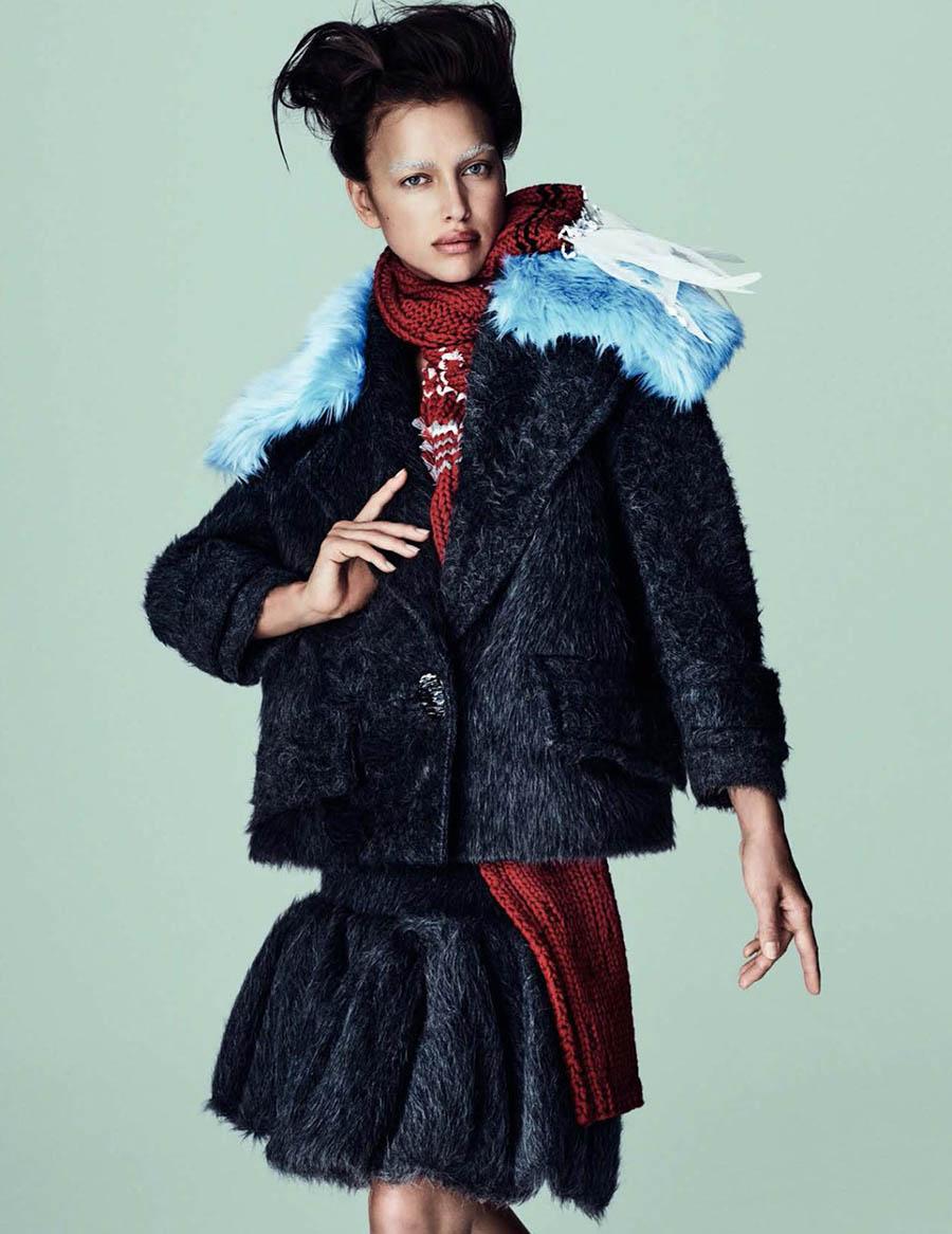 Irina Shayk covers Vogue Spain August 2017 by Mario Testino