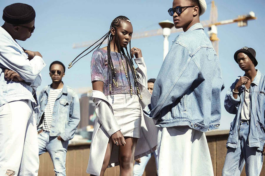 Lindiwe Dim by Justin Dingwall for Elle South Africa August 2017