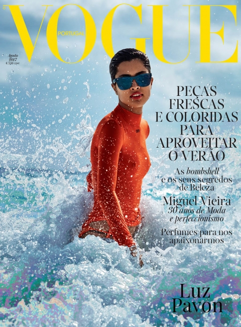 Luz Pavon covers Vogue Portugal August 2017 by Enrique Badulescu