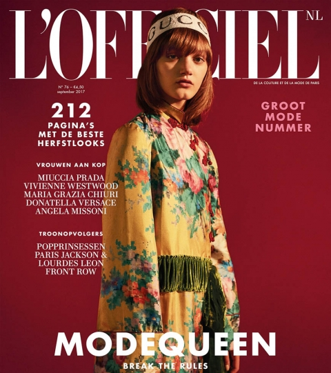 Peyton Knight covers L'Officiel Netherlands September 2017 by Guy Lowndes