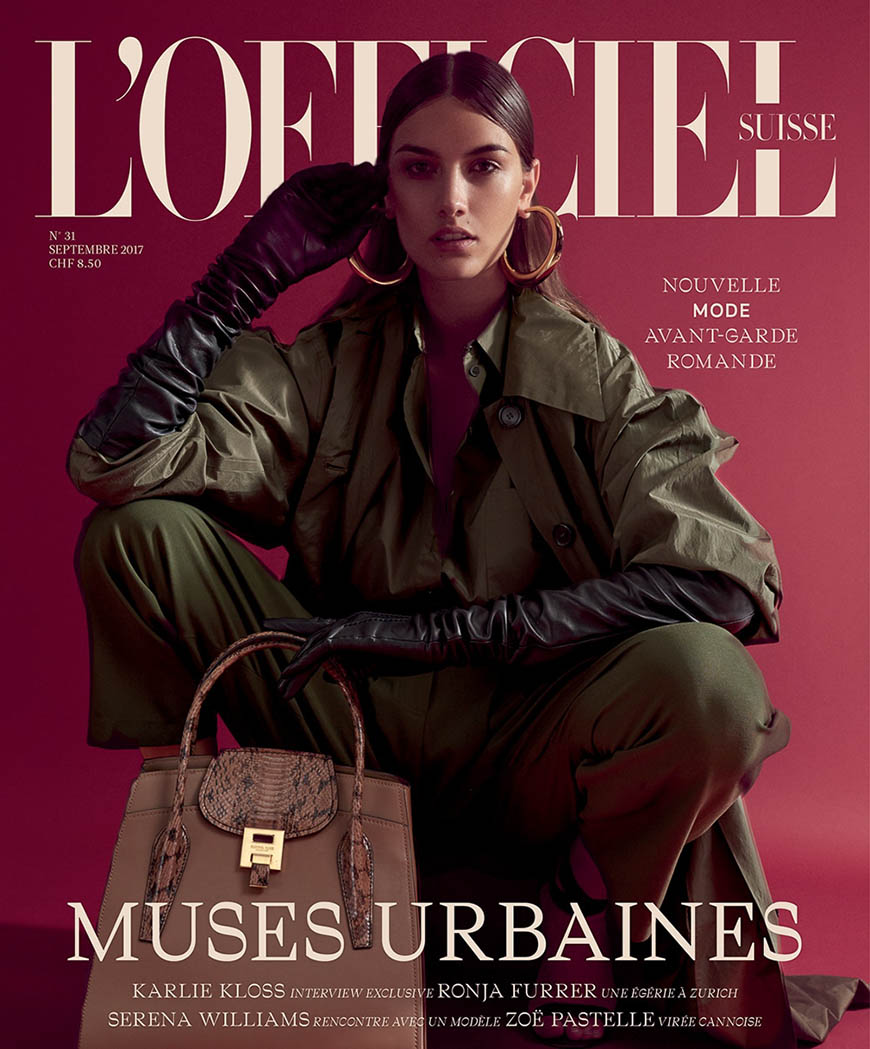 Ronja Furrer covers L'Officiel Switzerland September 2017 by Andreas Ortner