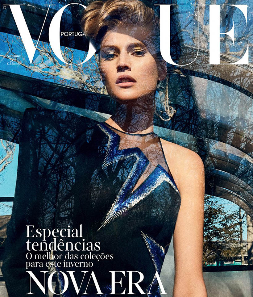 Toni Garrn covers Vogue Portugal September 2017 by An Le