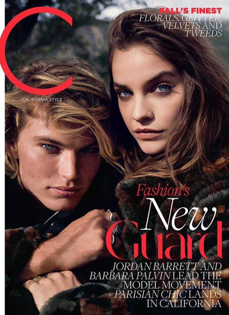 Barbara Palvin and Jordan Barrett cover C Magazine September 2017 by Beau Grealy