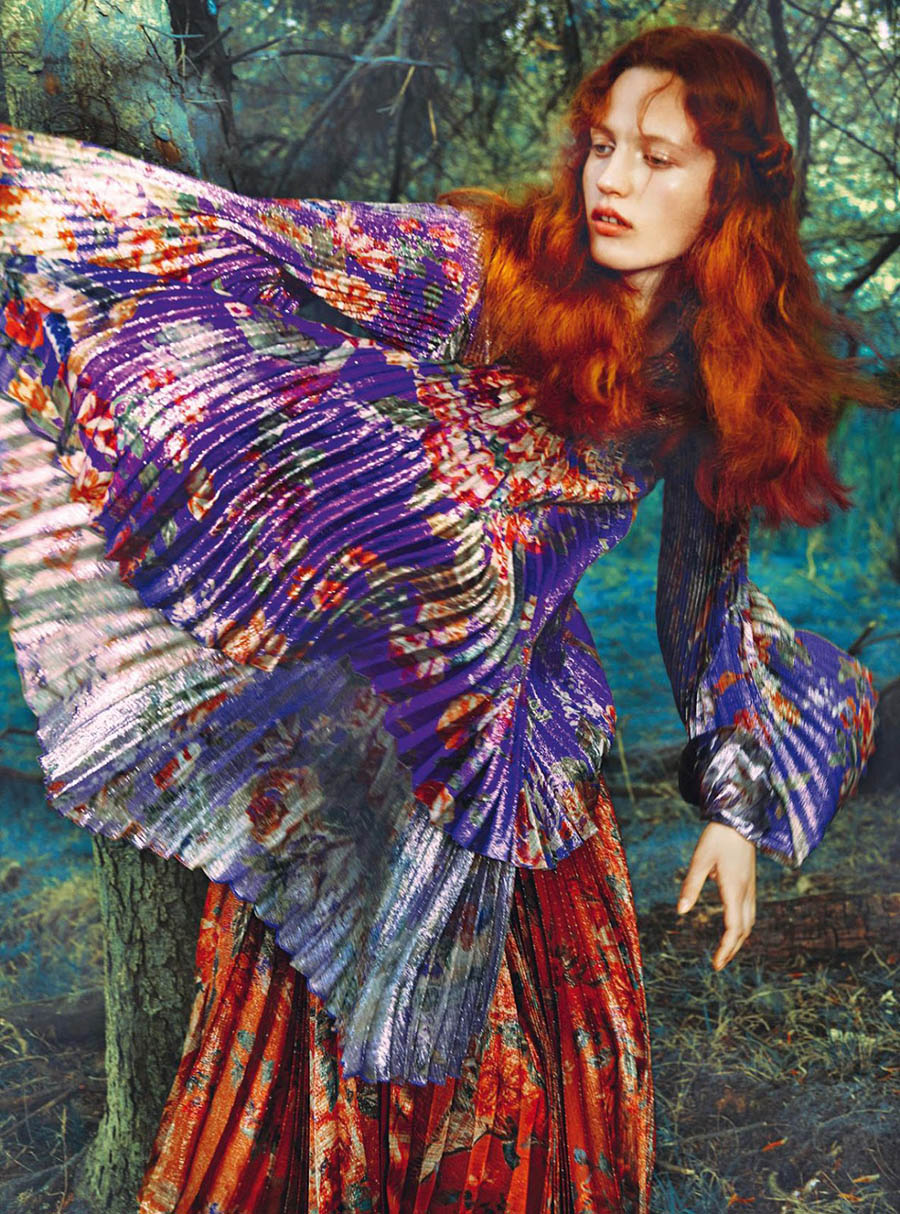 Julia Banas by Erik Madigan Heck for Harper's Bazaar UK September 2017