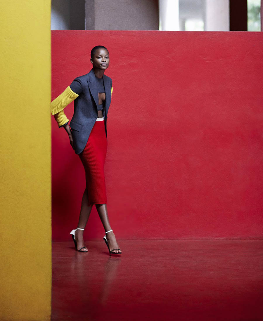 Mayowa Nicholas by Daniel Riera for Harper's Bazaar US September 2017