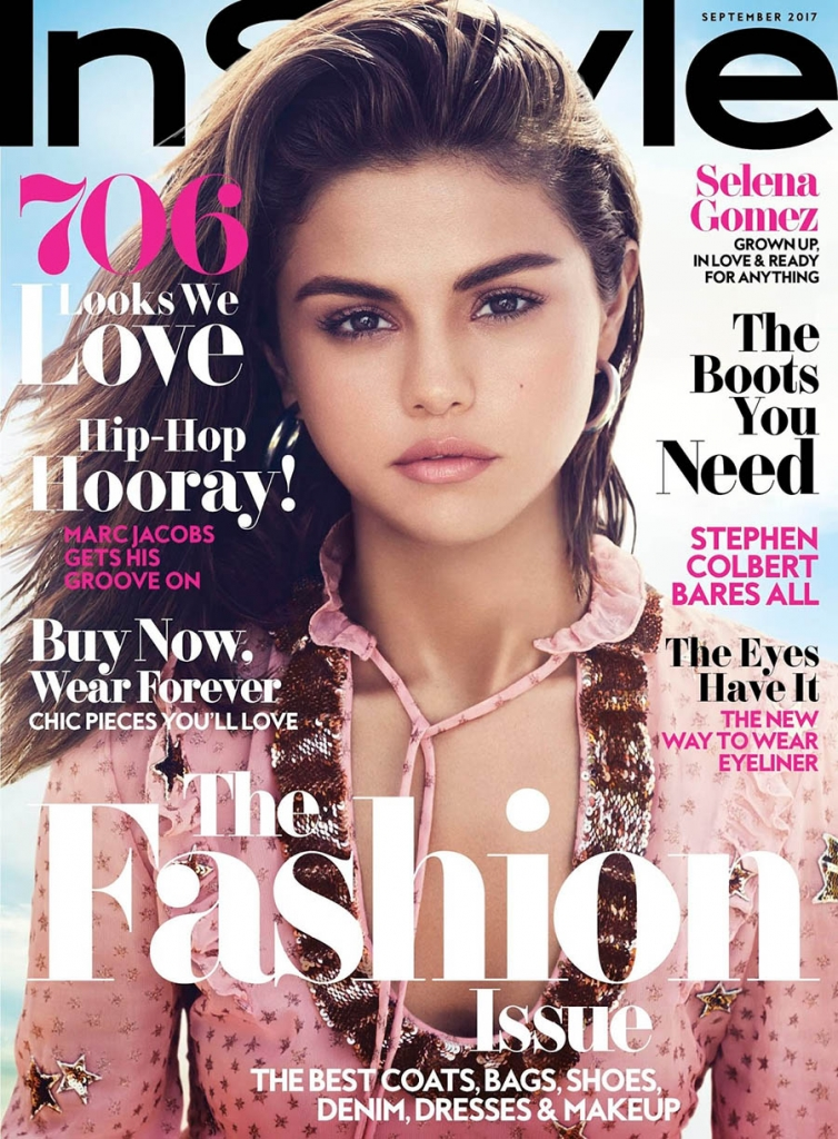 Selena Gomez covers Instyle US September 2017 by Phil Poynter