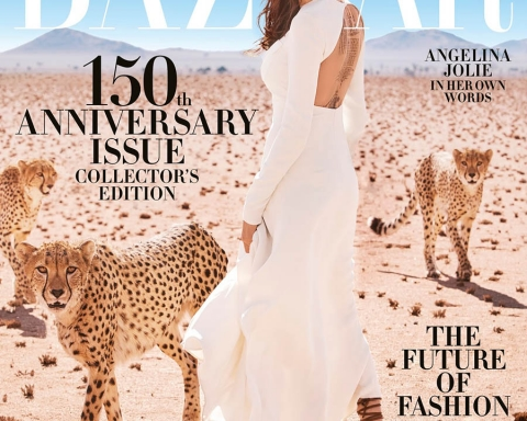 Angelina Jolie covers Harper's Bazaar US November 2017 by Alexi Lubomirski