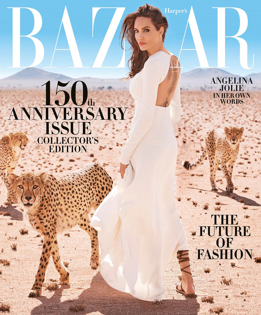Angelina Jolie covers Harper's Bazaar US November 2017 by Alexi Lubomirski