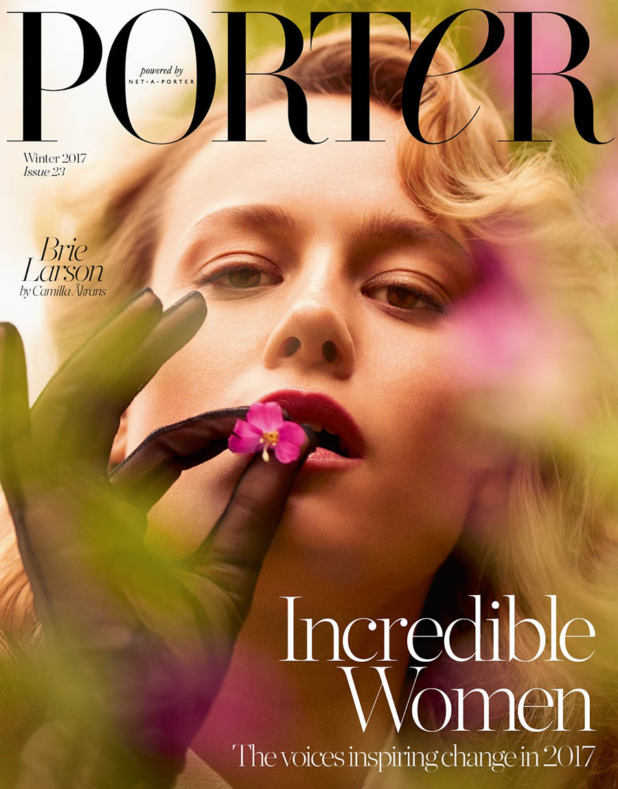 Brie Larson covers Porter Magazine Winter 2017 by Camilla Akrans