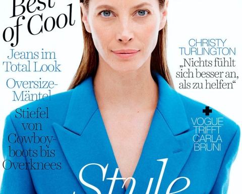 Christy Turlington covers Vogue Germany October 2017 by Daniel Jackson