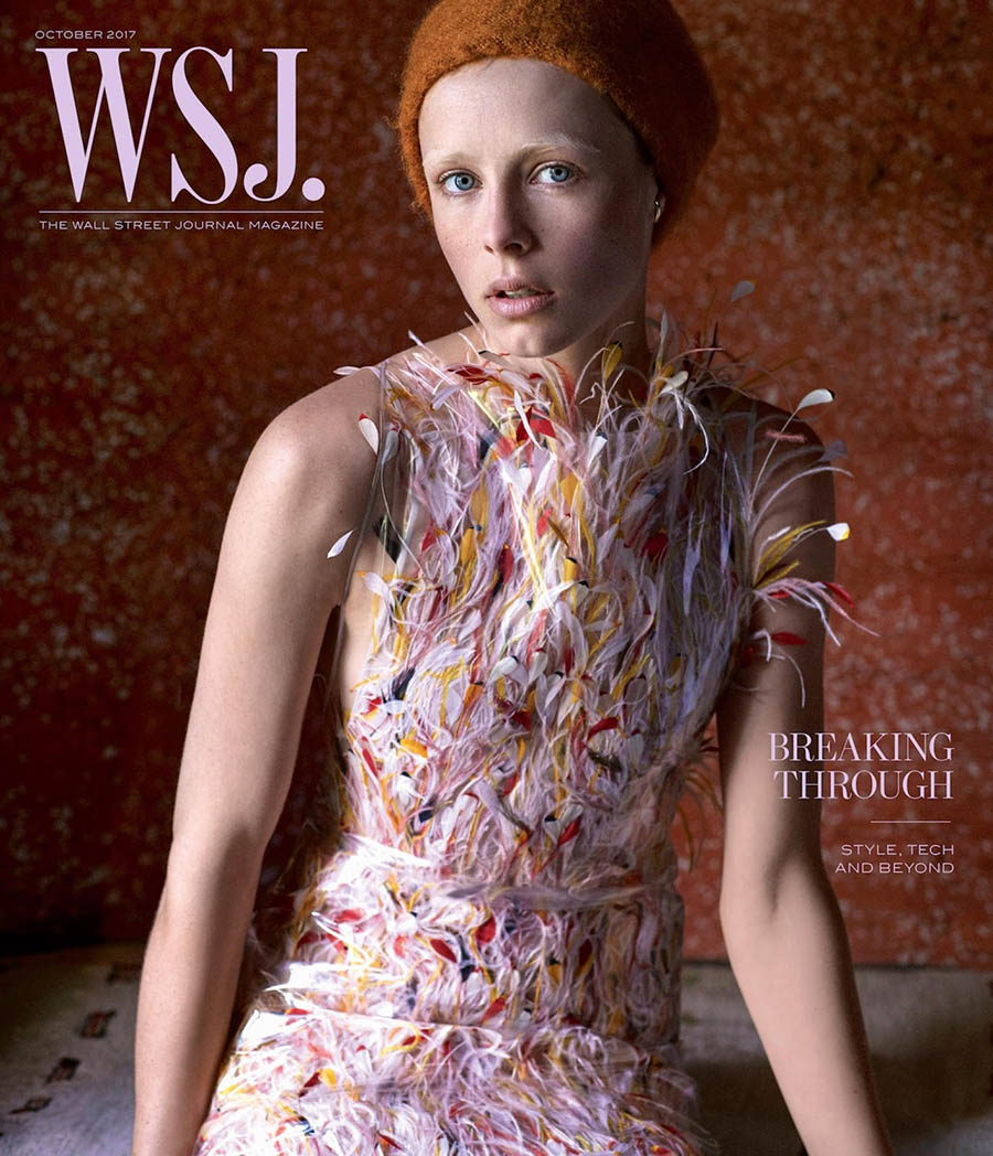 Edie Campbell covers WSJ. Magazine October 2017 by Mikael Jansson