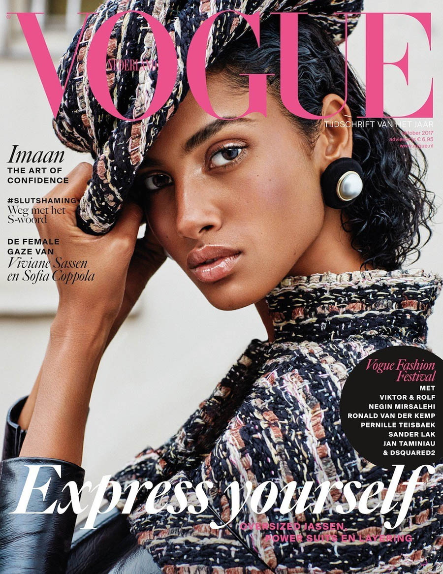 Imaan Hammam covers Vogue Netherlands October 2017 by Alique
