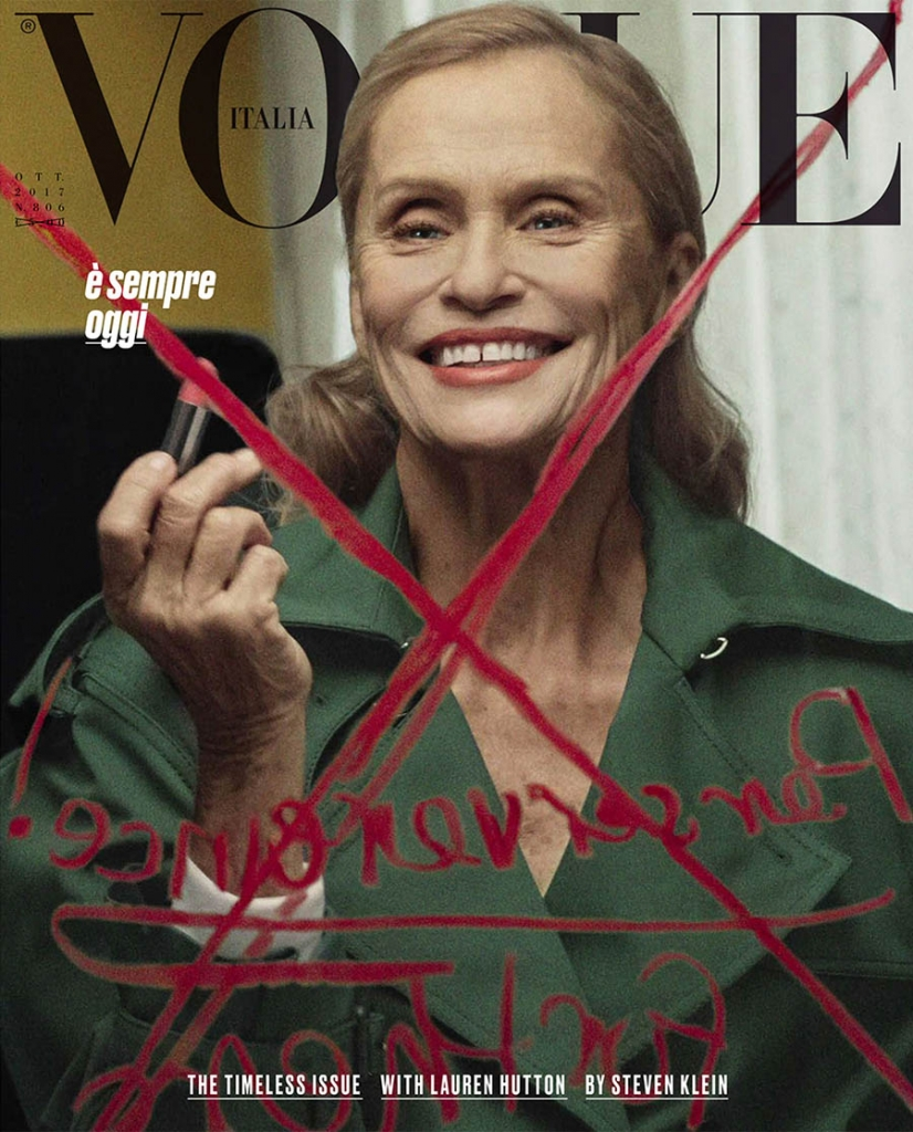 Lauren Hutton covers Vogue Italia October 2017 by Steven Klein