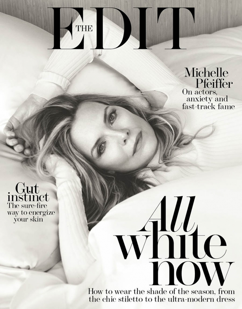 Michelle Pfeiffer covers The Edit October 12th, 2017 by Bjorn Iooss