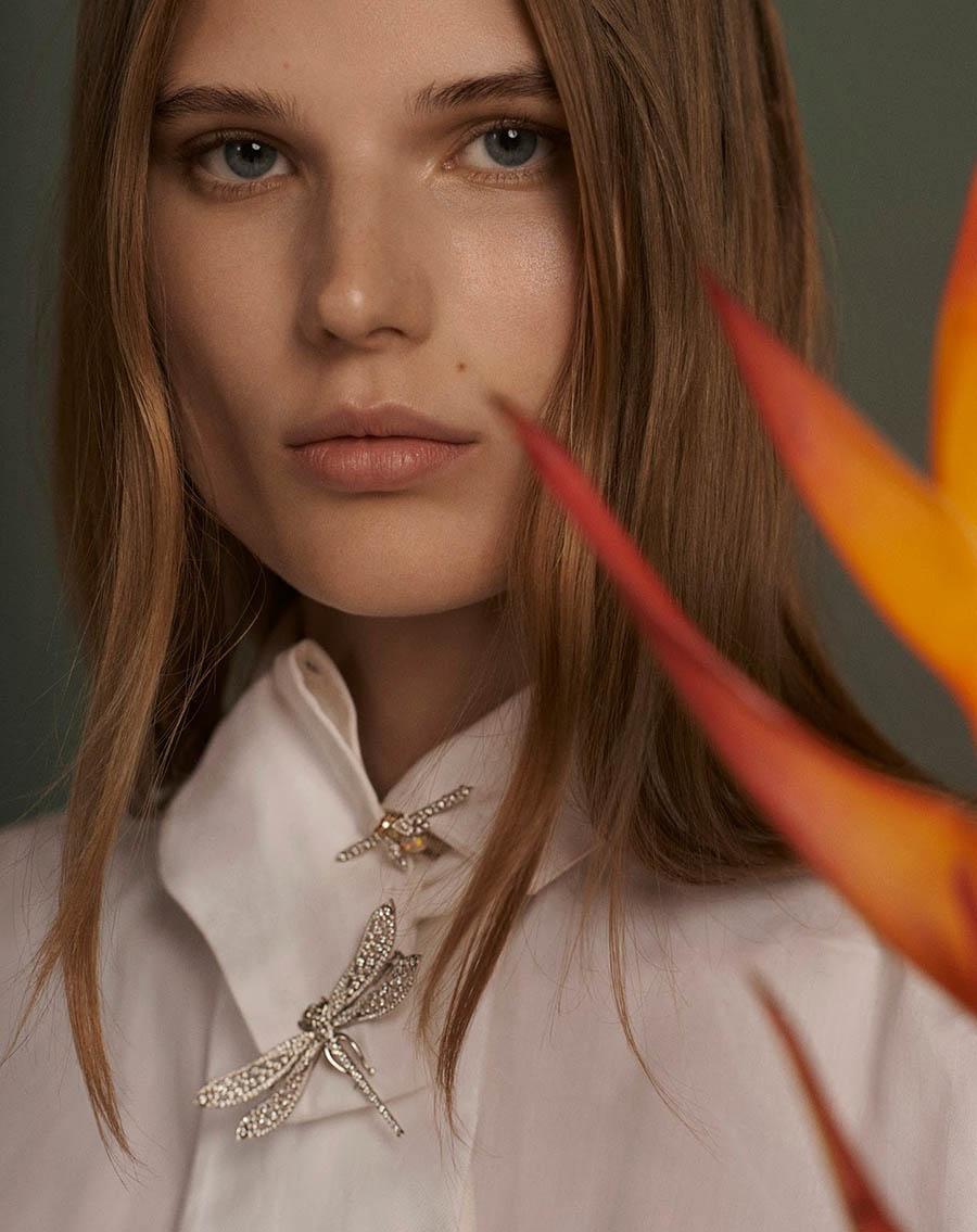 Adela Stenberg covers Sunday Telegraph UK Autumn/Winter 2017 by Clara Giaminardi