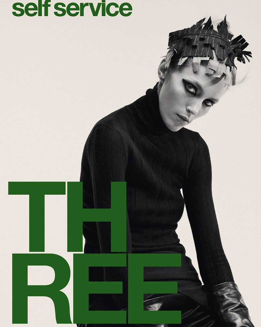 Anja Rubik covers Self Service Magazine Fall/Winter 2017 by Ezra Petronio