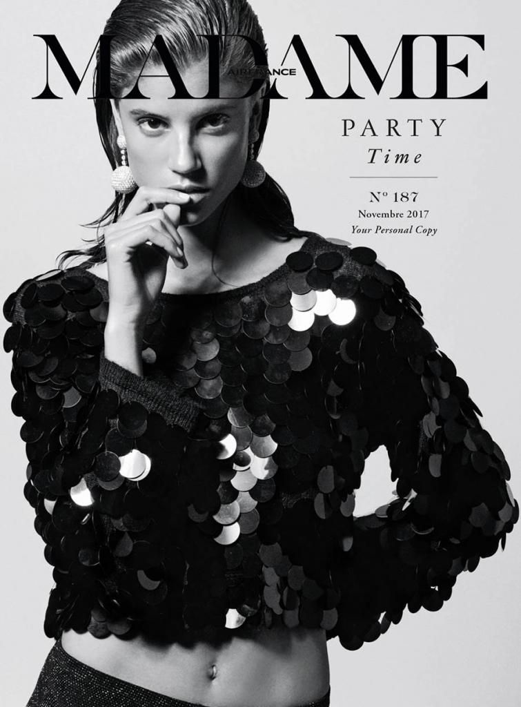 Antonina Petkovic covers Air France Madame November 2017 by Philip Gay