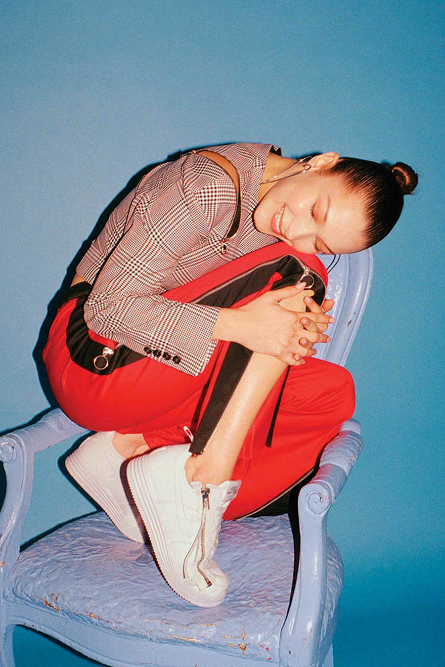 Bella Hadid covers Footwear News November 2017 by Eric T. White