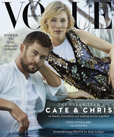 Chris Hemsworth and Cate Blanchett cover Vogue Australia November 2017 by Will Davidson