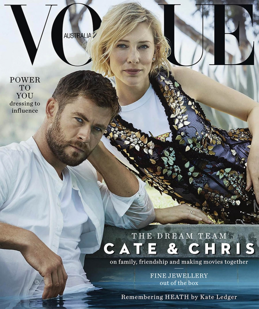 Chris Hemsworth and Cate Blanchett cover Vogue Australia November 2017 by Will Davidson