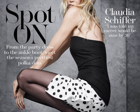 Claudia Schiffer covers The Edit November 23rd, 2017 by Nico Bustos