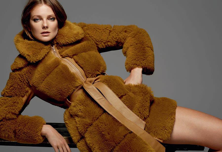 Eniko Mihalik covers Harper's Bazaar Ukraine November 2017 by Arseny Jabiev