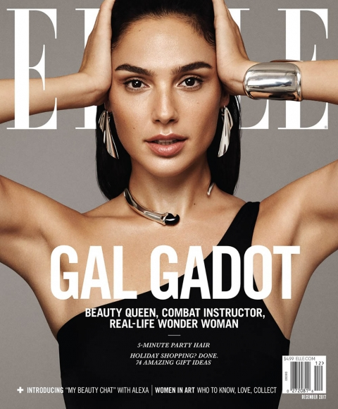 Gal Gadot covers Elle US December 2017 by Paola Kudacki