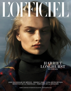 Harriet Longhurst covers L'Officiel Mexico November 2017 by Hugo Comte
