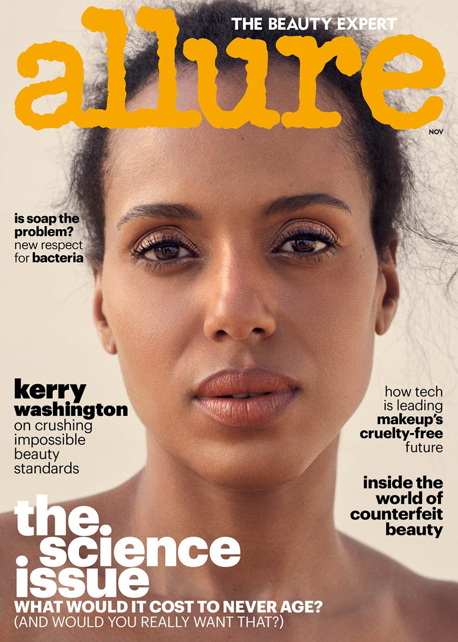 Kerry Washington covers Allure US November 2017 by Sharif Hamza