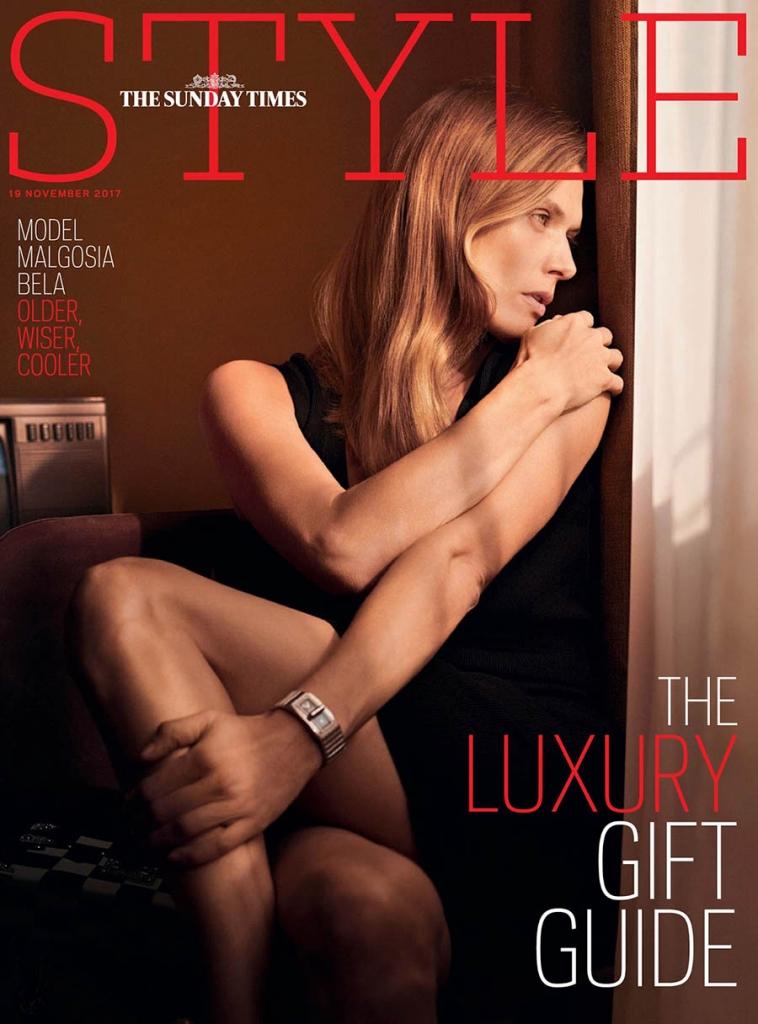 Małgosia Bela covers The Sunday Times Style November 19, 2017 by Ward Ivan Rafik
