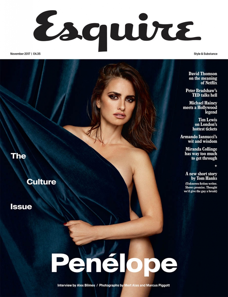 Penélope Cruz covers Esquire UK November 2017 by Mert & Marcus