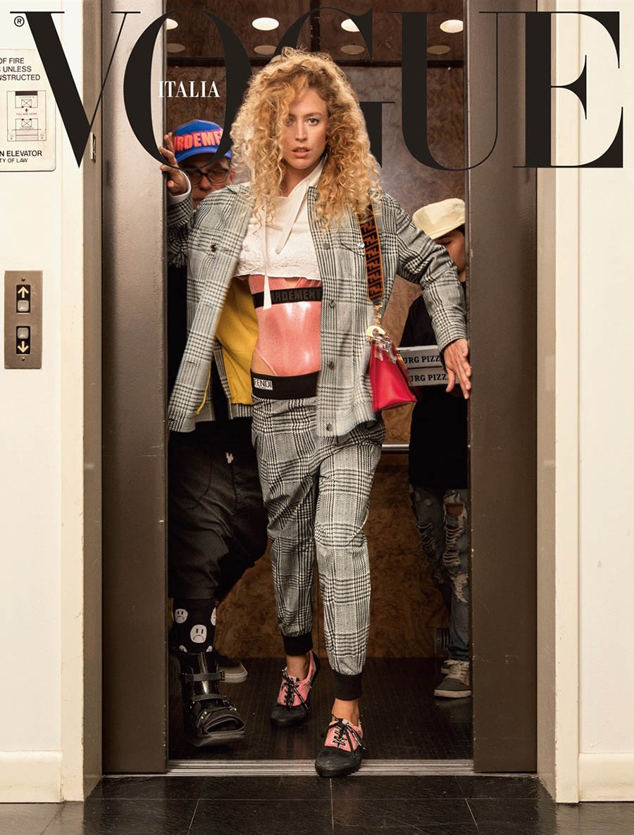 Raquel Zimmermann covers Vogue Italia November 2017 by Inez and Vinoodh