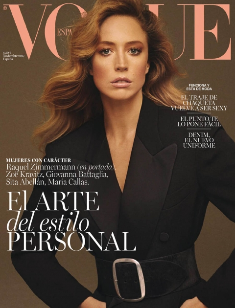 Raquel Zimmermann covers Vogue Spain November 2017 by Christian Macdonald
