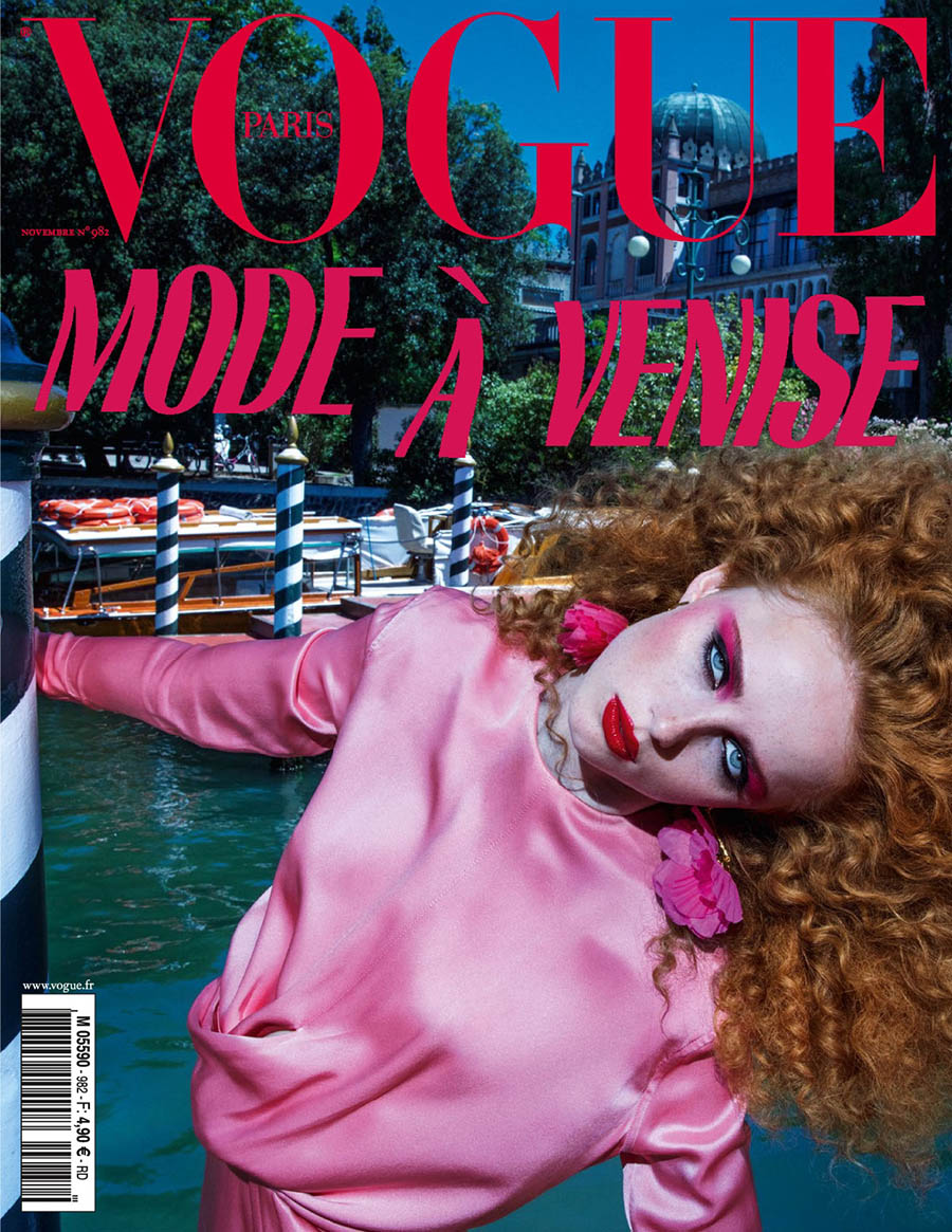 Rianne Van Rompaey covers Vogue Paris November 2017 by Inez and Vinoodh