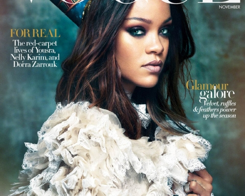 Rihanna covers Vogue Arabia November 2017 by Greg Kadel