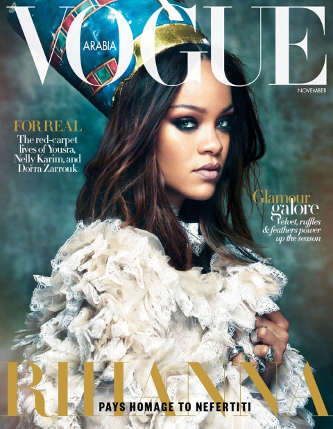 Rihanna covers Vogue Arabia November 2017 by Greg Kadel