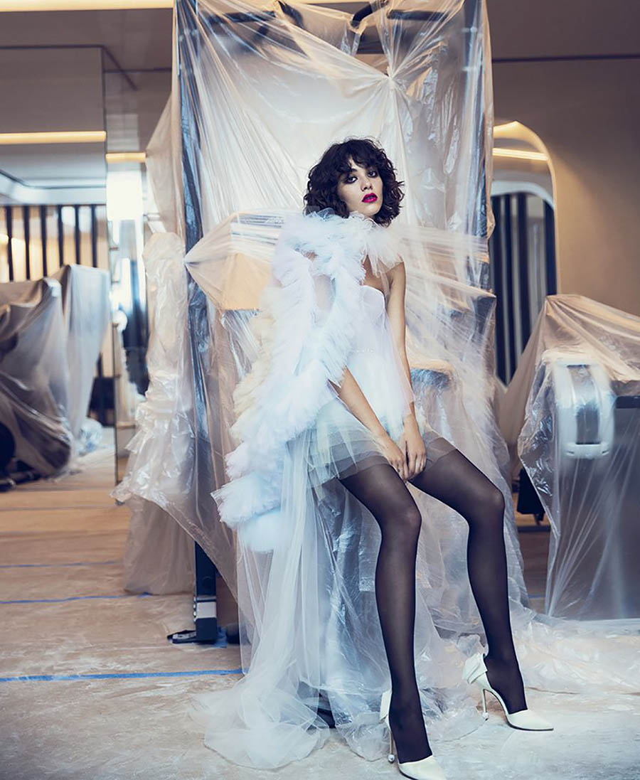 Steffy Argelich by David Bellemere for Elle US November 2017