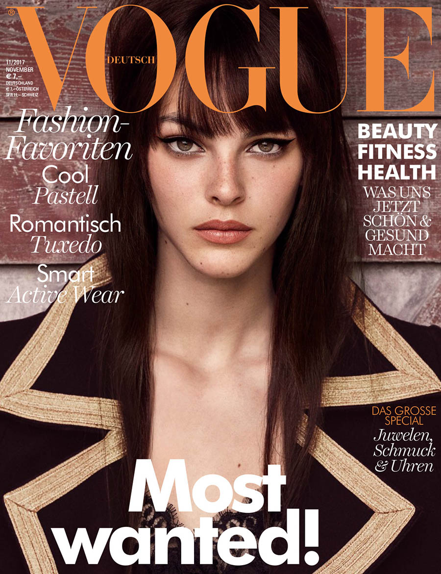 Vittoria Ceretti covers Vogue Germany November 2017 by Luigi & Iango