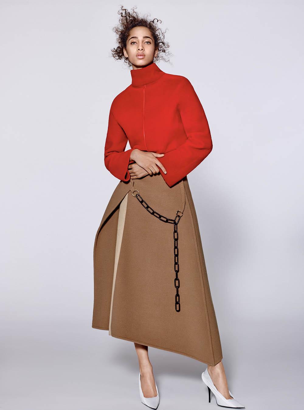 Yasmin Wijnaldum by Richard Burbridge for Vogue China November 2017