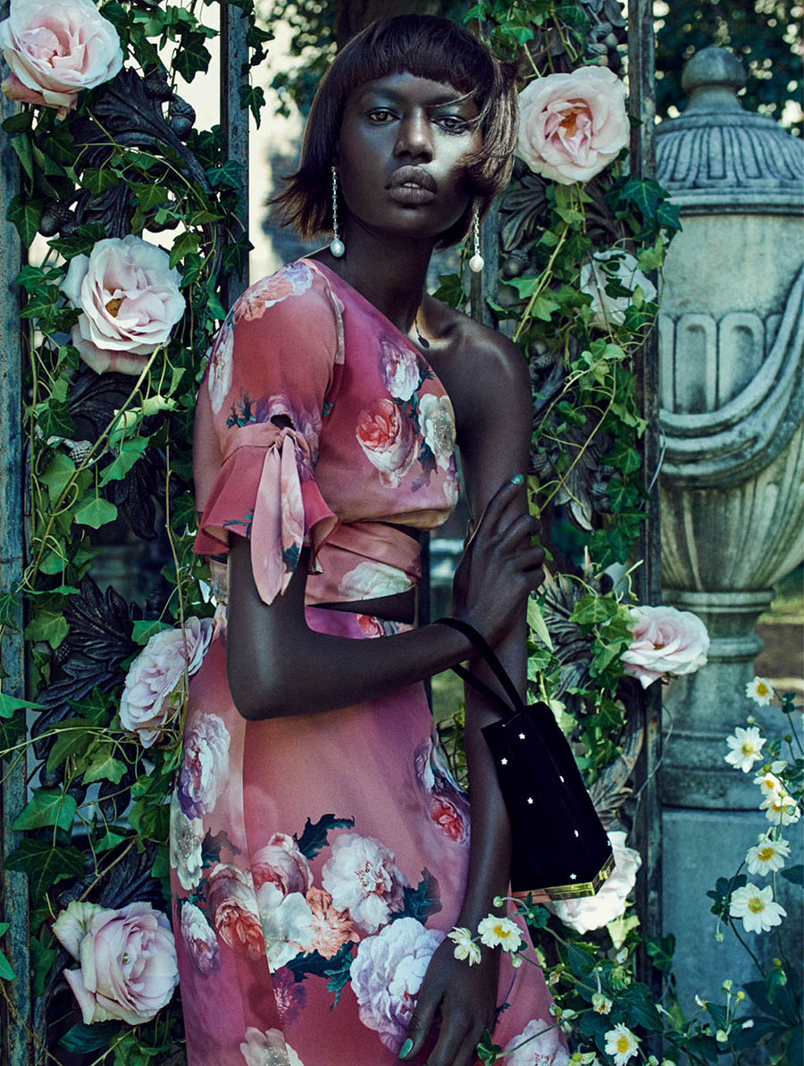 Ajak Deng by Ed Singleton for Elle UK December 2017