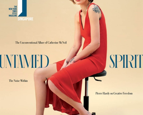 Catherine McNeil covers T Magazine Singapore December 2017 by Carlotta Manaigo