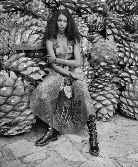 Danielle Ellsworth by Graciela Iturbide for Elle US December 2017